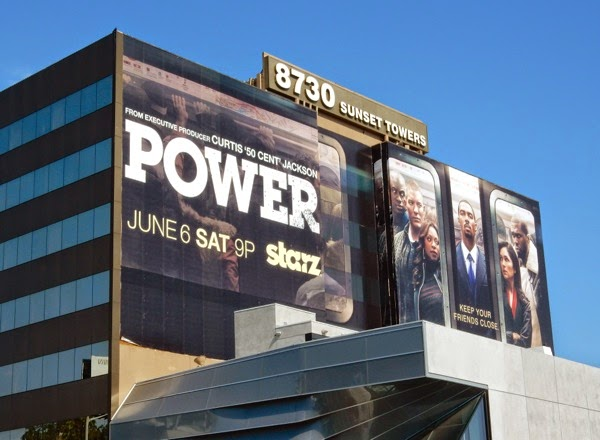 Power season 2 Starz billboard