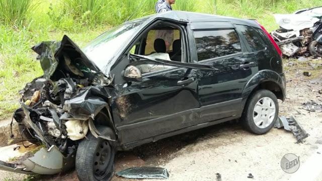 Acidente deixa três mortos na BR-265, em Lavras (Foto: Reprodução / Redes Sociais)