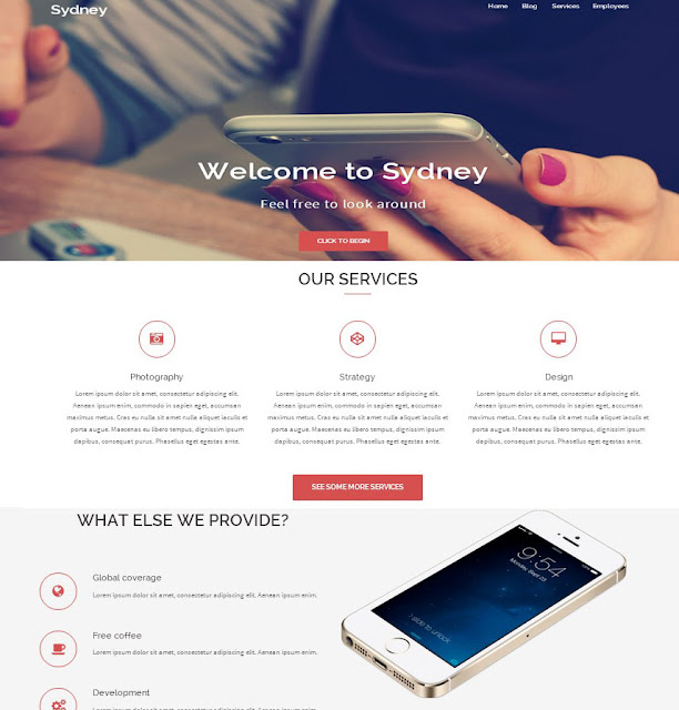 Sydney Business-PHP Theme Free Download
