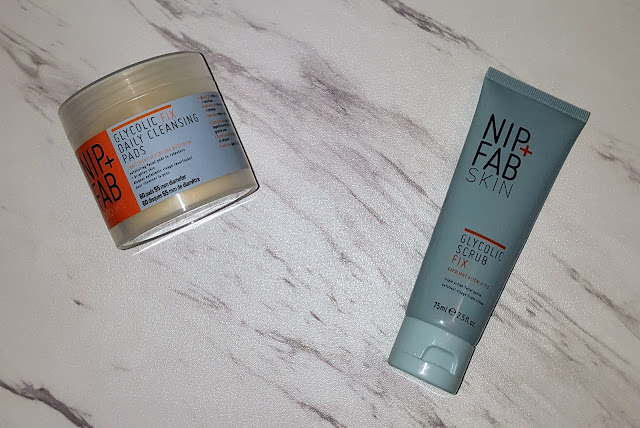 Nip + Fab Skin Glycolic Scrub Fix & Glycolic Fix Daily Cleansing Pads