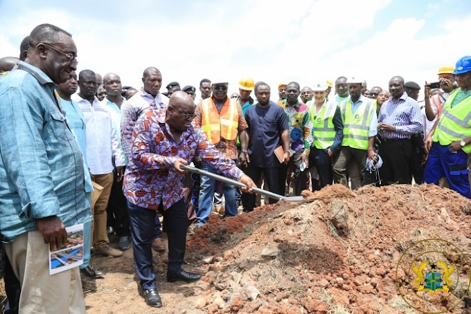 President Akufo-Addo Cuts Sod For Kumasi Roads Facelift Project