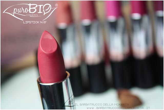 review , lipstick n 07 ,  rossetti purobio , lipstick, vegan makeup, bio makeup