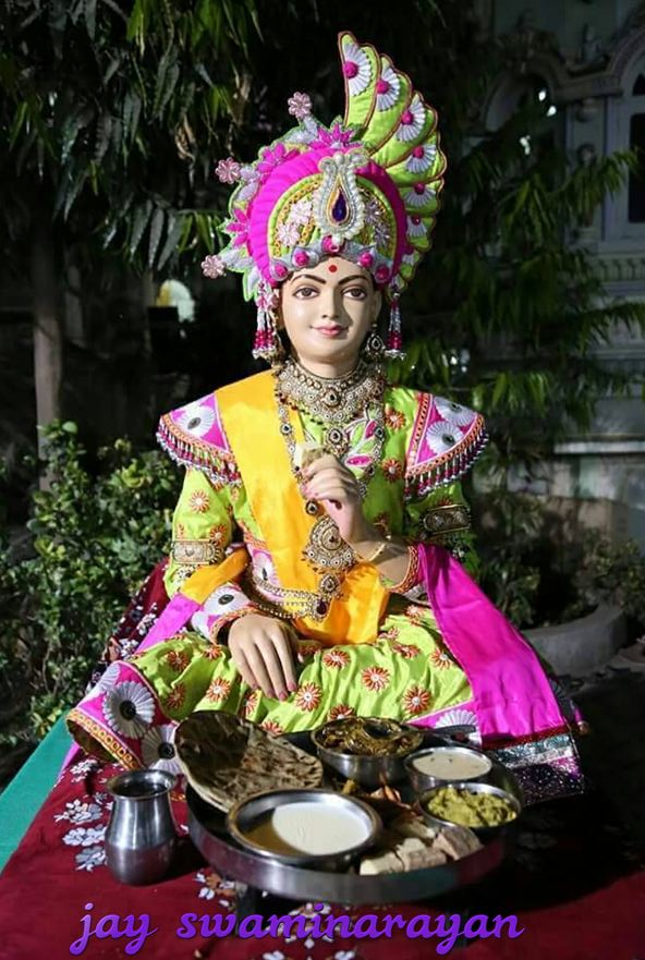 jay swaminarayan Lord Eating