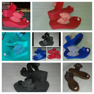 Sandal Spon Wedges Jempol Pita (Sandal Carvella)
