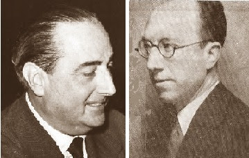 Los organizadores del XXIII Campeonato de España de Ajedrez 1958 Agustín Pujol y Brígido Chamero