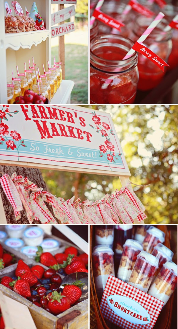 Farmer's Market First birthday theme party