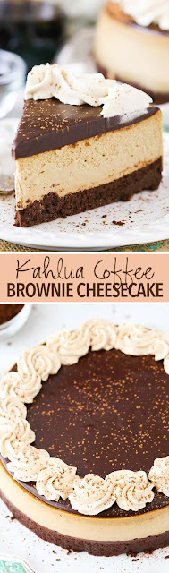 Kahlua Coffee Brownie Cheesecake