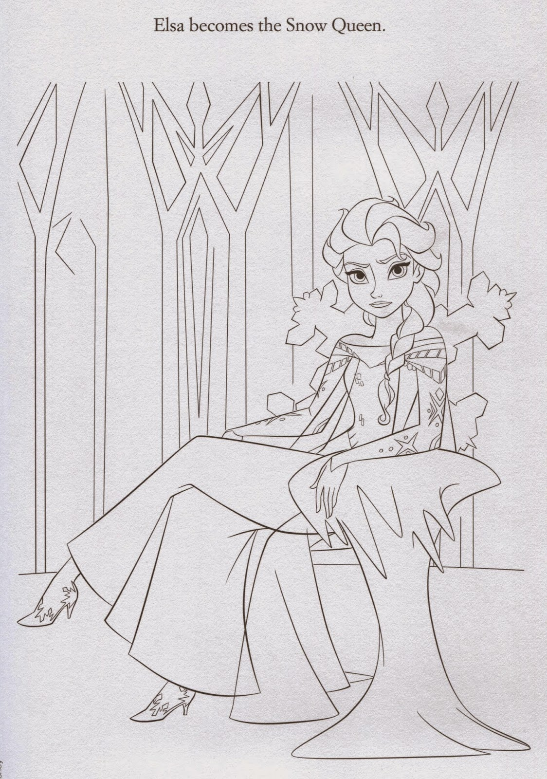 Disney Movie Princesses: Elsa Castle Coloring Pages