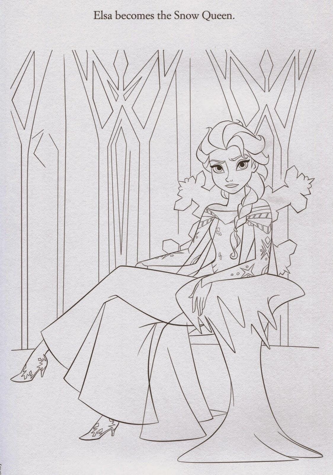 Disney Movie Princesses: Elsa Castle Coloring Pages