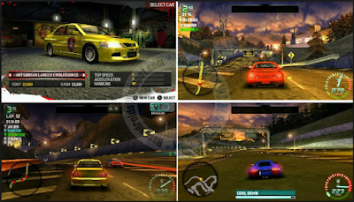 Download Game PPSSPP NFS: Carbon Own the City PSP ISO High Compressed