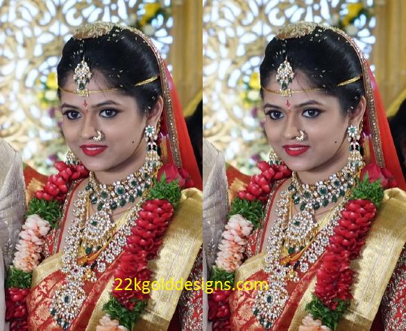 South Indian Polki Diamond Bridal Jewellery