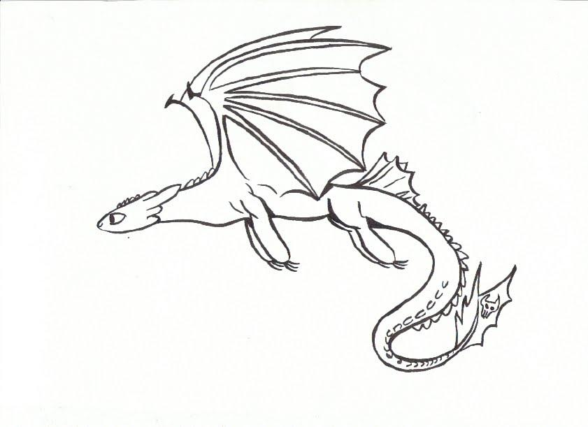 ausmalbilder dragons ohnezahn  zeichnen und färben