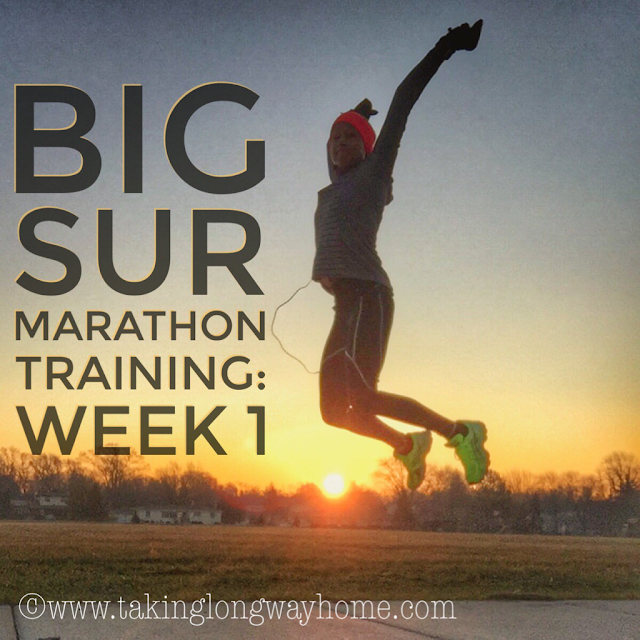 Big Sur Marathon Training Week 1