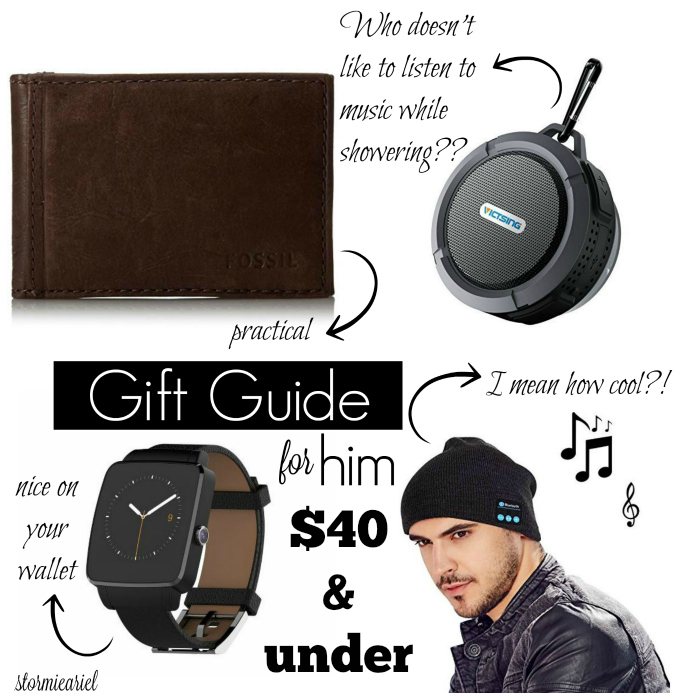 Gift Guide for Him   $40 & UNDER