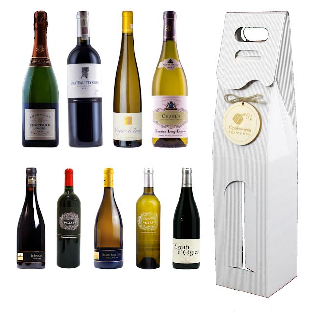 pudełko opakowanie na wino z logo