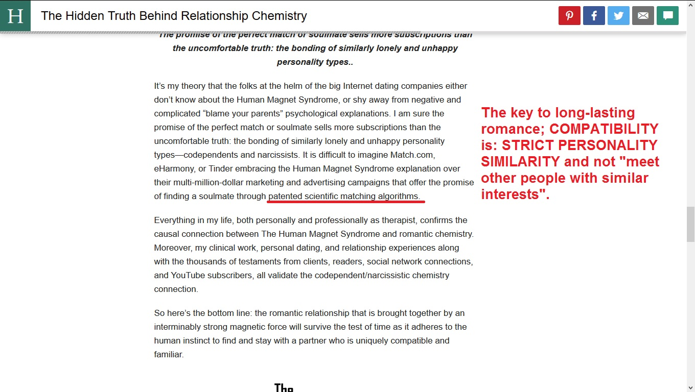 Chemistry in a relationship test