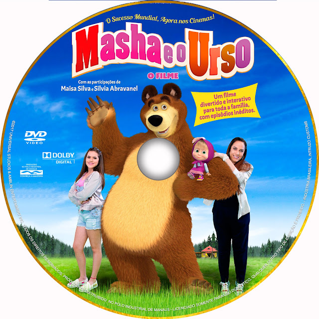 Label DVD Masha E O Urso