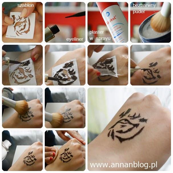 Anna N Blog Diy Wodoodporny Tatuaż Eyelinerem
