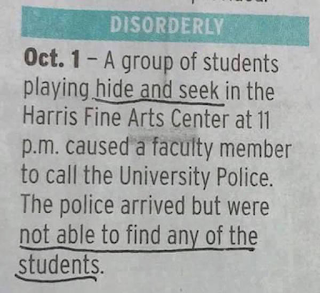 hide and seek funny university game