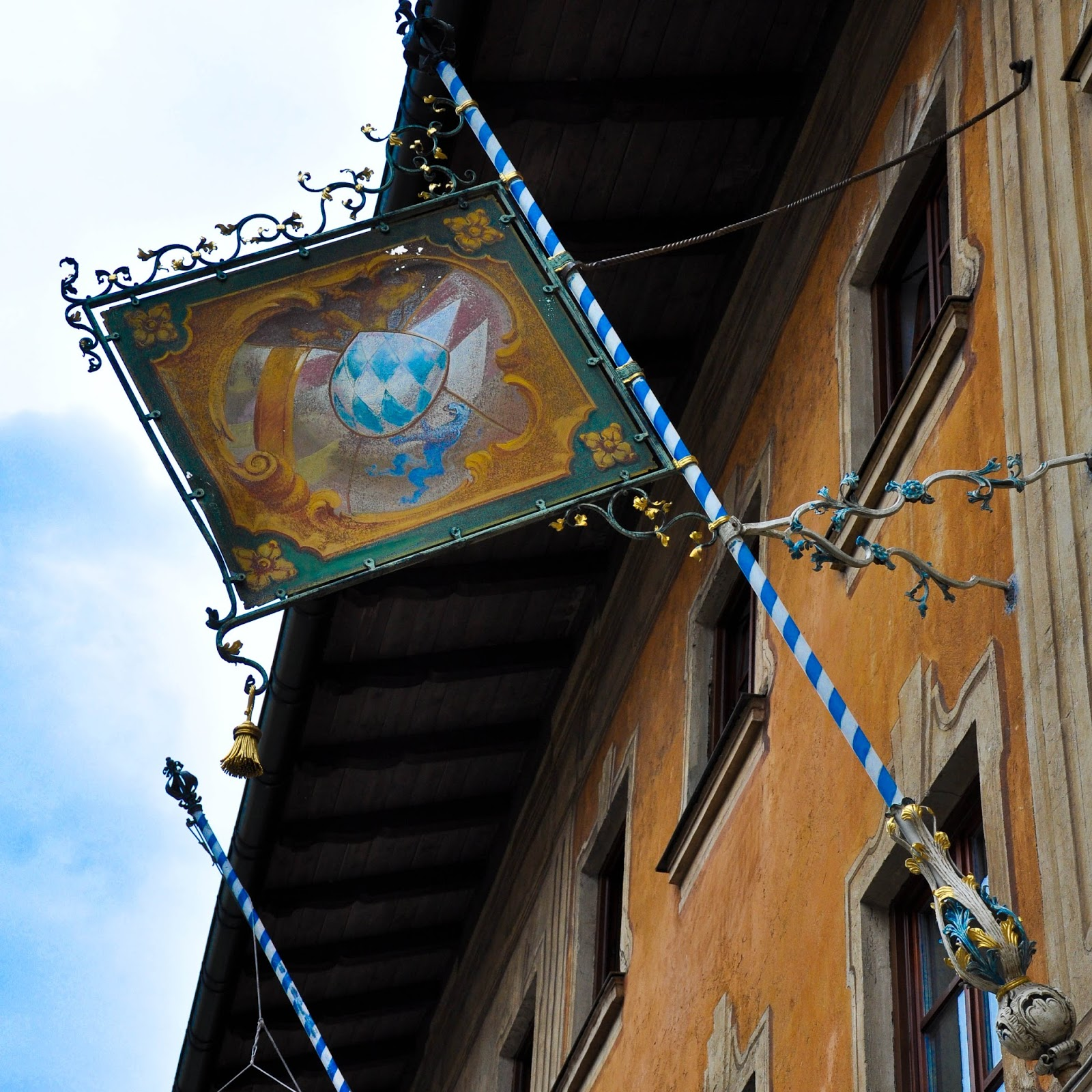 Flag, Garmisch-Parternkirchen, Bavaria, Germany