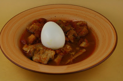 Doro Wat is a spicy Ethiopian chicken stew. You can make it easily by placing the ingredients into your crockpot slow cooker.
