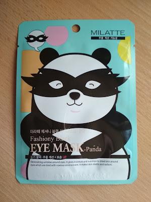 Recenzja - Milatte maska do okolicy oczu w płachcie panda