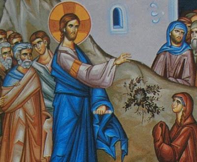 Resultado de imagem para Jesus e a cananeia ícone