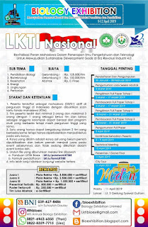 Lomba Karya Tulis Ilmiah Nasional Mahasiswa 4th Annual BioExh 2019