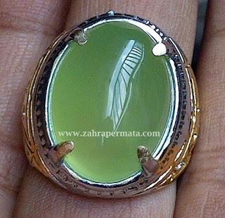 Cincin Batu Permata Green Chalcedony Bengkulu - ZP 324