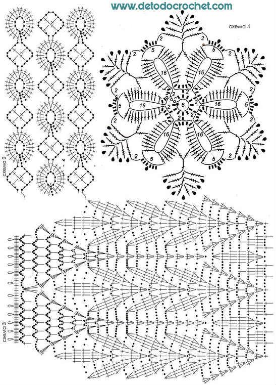 Pollera y Blusa Crochet / Patrones