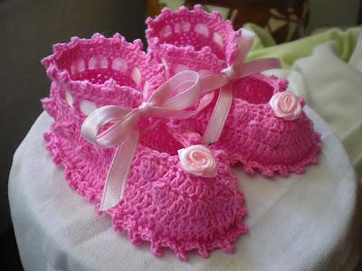 scarpine - rosa - uncinetto