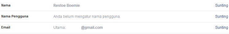 cara menggnati nama facebook