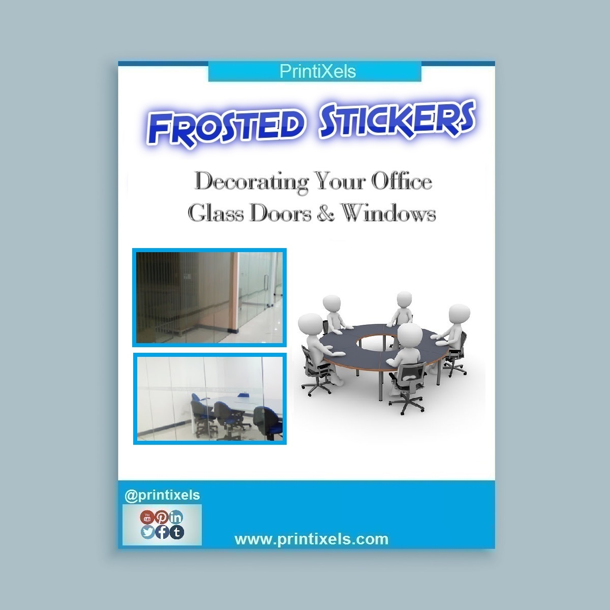 Frosted Stickers: Decorating Your Office Glass Doors & Windows