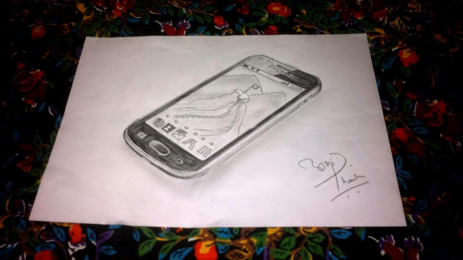 Galaxy S Duos Sketch by Abhishek Thamke