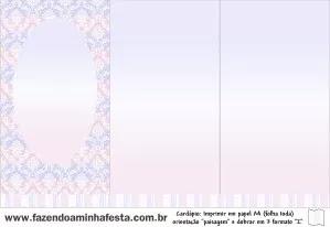 Arabescos en Celeste, Lila y Rosa: Imprimibles Gratis de  Quince Años.