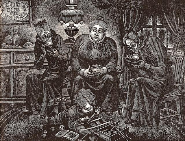 Τα Χριστούγεννα ενός παιδιού από την Ουαλία του Ντύλαν Τόμας - εικονογράφηση του Fritz Eichenberg