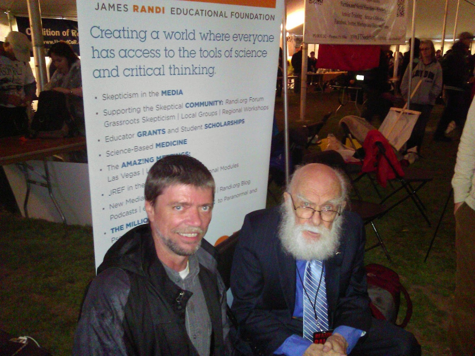 Yours truly and James Randi