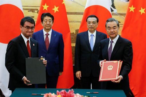 China y Japón firman pacto que fortalece cooperación comercial