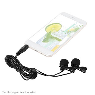 3.5MM Lapel Lavalier Clip Microphone Mic Audio Sound Recording For SmartPhone