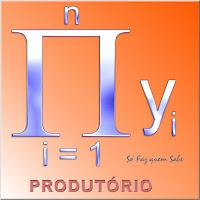 Produtório da variável y com o i variando de 1 a n