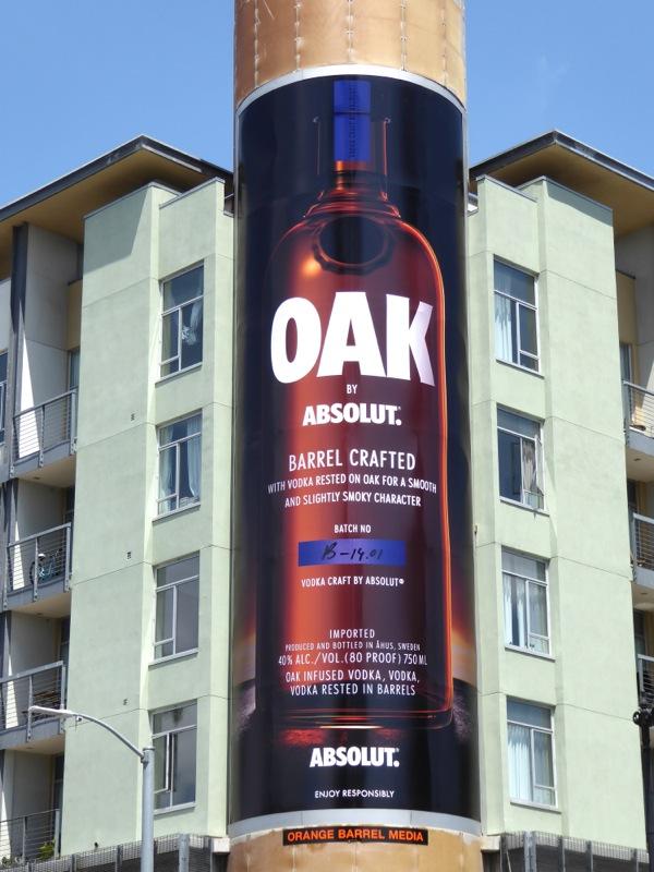 Absolut Oak Vodka billboard