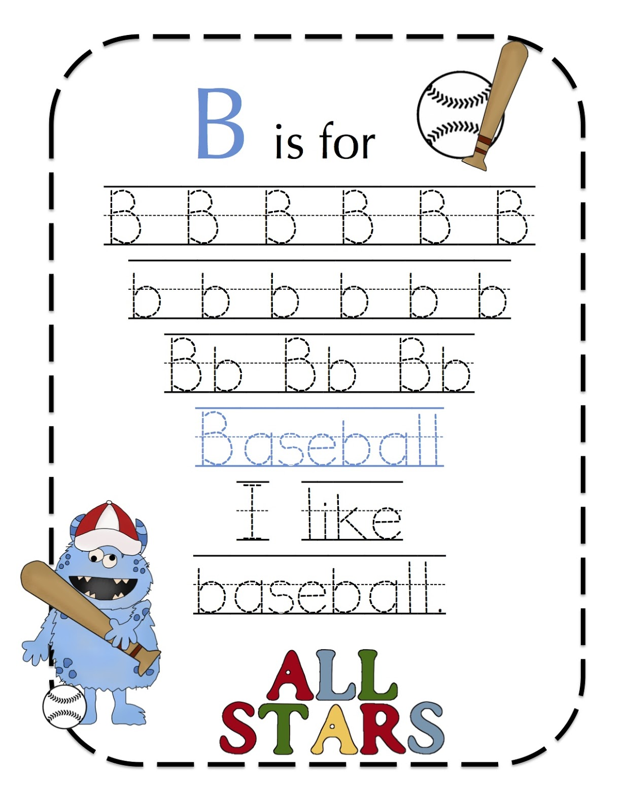 B For Baseball Med Bilder