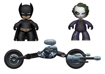 Mezco Toyz - The Dark Knight Bat-Pod with Batman & The Joker Mini Mez-Itz Vehicle Set