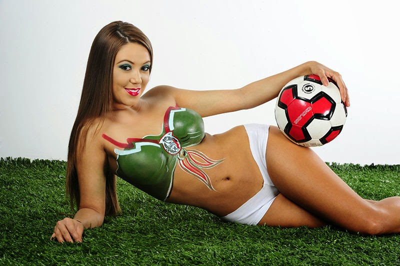 Couple hardcore germany body paint soccer girls