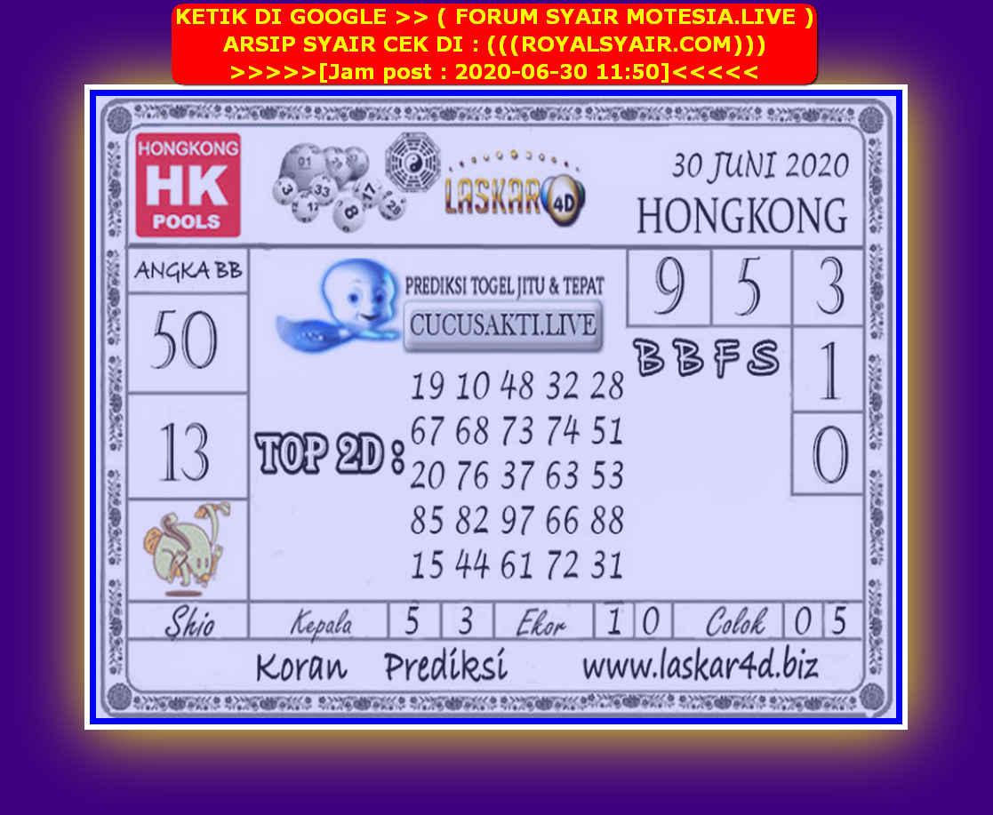 Kode syair Hongkong Selasa 30 Juni 2020 273