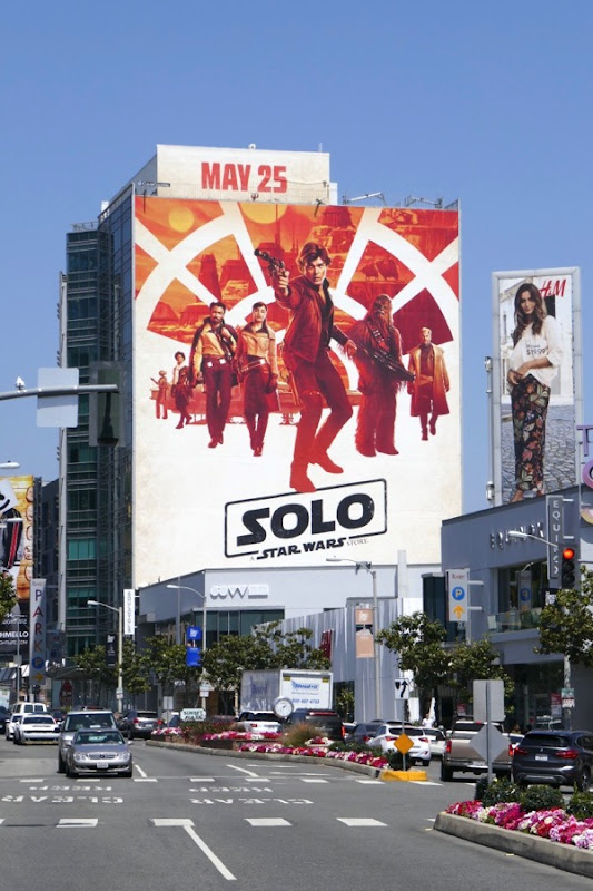 Solo Star Wars movie billboard