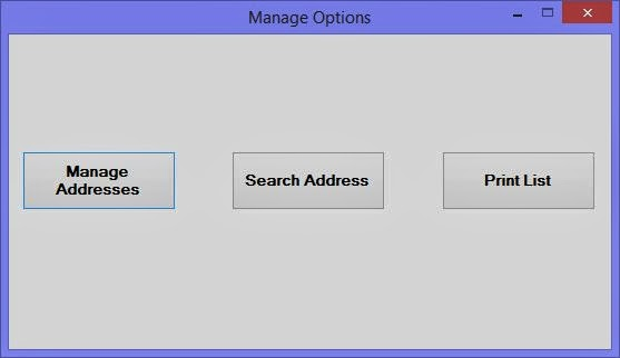 Address Book Project in Windows Forms with C#