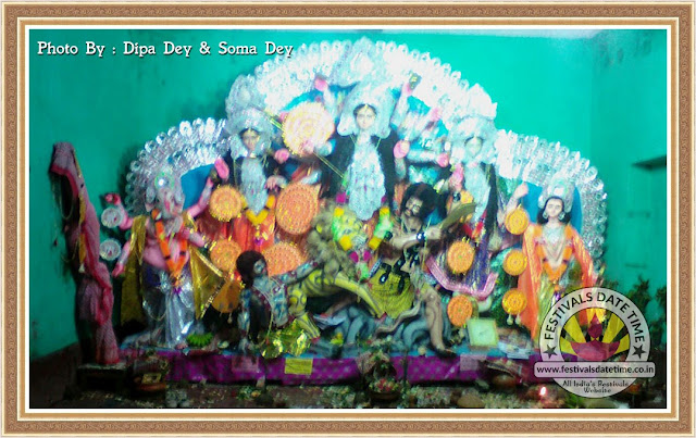 2016 Panchpota, Baroyari Pujo, Kalitala Durga Murti Photo in West Bengal - WhatsApp Photos