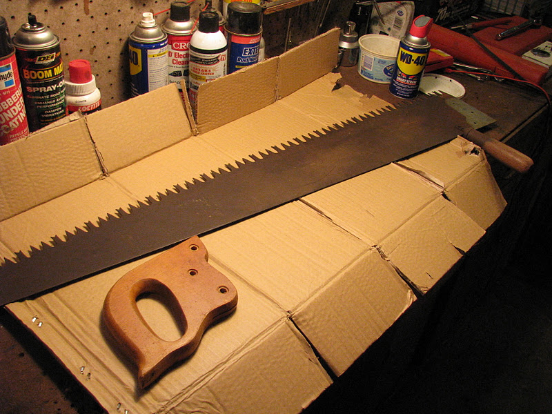 Green Cascadia: Let's Sharpen (another) Crosscut Saw