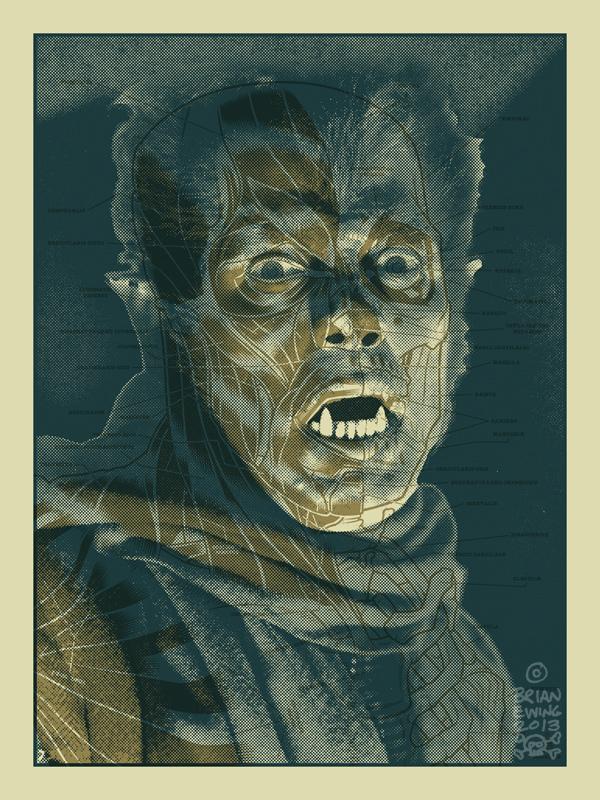 inside the rock poster frame blog brian ewing werewolf art print on